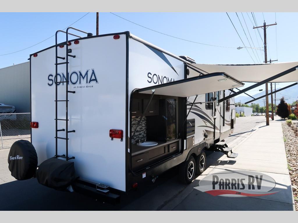 Forest River Sonomo travel trailer outdoor kitchen