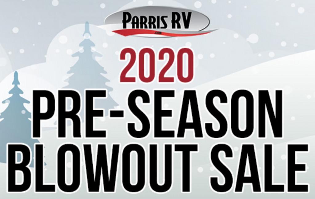 Parris RV Blowout Sale Banner