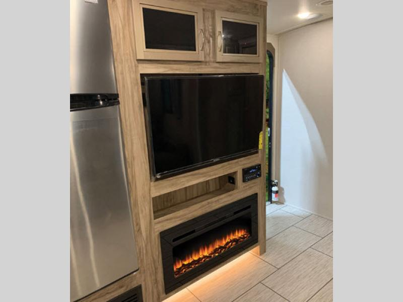 Solaire Travel Trailer Fireplace