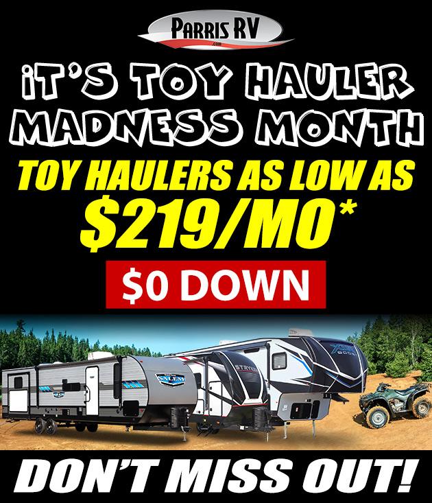 toy hauler banner